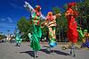 小镇上的小丑 | 免版税照片