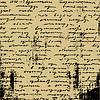 Aging manuscript on brown paper,   Stock Vector Graphics