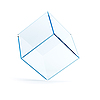 Empty glass cube | Stock Illustration