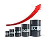 Rising oil barrel | Stock Illustration