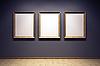 Blank frames in the gallery | Stock Foto