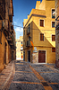 Traditional old Spanish street | Stock Foto