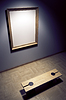 Blank frame in gallery | Stock Illustration