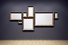 Blank frames in gallery | Stock Illustration