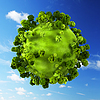 Small green planet | Stock Illustration