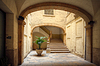 Courtyard of old spanish home | Stock Foto