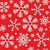 Vector clipart: Seamless background of snowflakes