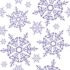 Seamless background of snowflakes | Stock Vector Graphics