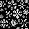 Векторный клипарт: Бесшовный фон из снежинок