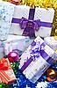 Cajas de regalo de fondo | Foto de stock