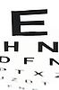Medical - Fuzzy Anblick eye chart | Stock Photo