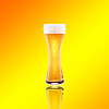 Beer glass with froth | Stock Foto