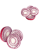 Sliced red onion | Stock Foto