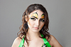 Idnian와 함께 아름 다운 여자의 초상화 메이크업 | Stock Foto