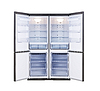 Photo 300 DPI: modern refrigerator with open doors