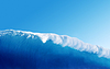Large Blue Surfing Wave | Stock Foto