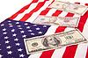 ID 3240939 | Dollars on american flag | High resolution stock photo | CLIPARTO