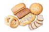 Surtido de pan cocido al horno | Foto de stock