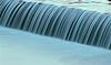 Kaskady wody spływają Lasher | Stock Foto