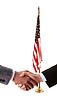 ID 3241405   Hand shake and American flag   High resolution stock photo   CLIPARTO