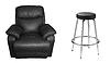 ID 3241636 | Schwarzes Sofa und Ledersessel | Foto mit hoher Auflösung | CLIPARTO