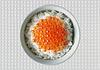 水稻菜红鱼子酱 | 免版税照片