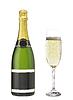 Botella de champán | Foto de stock