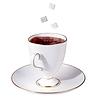 一杯茶和下降方糖 | 免版税照片