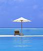 ID 3242607 | Beach Chairs and Umbrella on beautiful island | High resolution stock photo | CLIPARTO