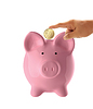 ID 3345364   Hand putting coin into pink piggy bank   High resolution stock photo   CLIPARTO