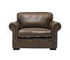 仿古皮革扶手椅 | 免版税照片
