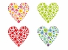 Vector clipart: Valentine`s day hearts