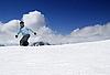 Snowboarding im Hochgebirge | Stock Foto