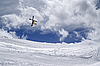 ID 3117672 | Freestyle ski jumper with crossed skis | High resolution stock photo | CLIPARTO