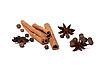 Black peppercorns, anise stars and cinnamon sticks | Stock Foto