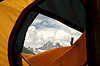 Photo 300 DPI: View of tent on mountains