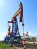 Gewinnung von Erdöl | Stock Foto