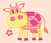Vector clipart: Application cow