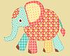 Vektor Cliparts: Applikation Elefant