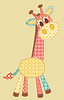 Vector clipart: Application giraffe