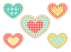 Vector clipart: Set of patchwork hearts