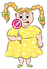 Vector clipart: Thick girl