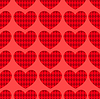 Vector clipart: Seamless hearts pattern 1