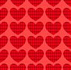 Vektor Cliparts: Nahtlose Herz Muster 1
