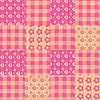 Vector clipart: Seamless patchwork pattern pink