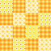 Seamless patchwork pattern orange | Stock Vector Graphics