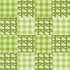 Vector clipart: Seamless patchwork pattern green