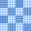 Vector clipart: Seamless patchwork pattern blue