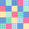 Vektor Cliparts: Nahtlose Patchwork-Muster 4