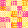 Vector clipart: Seamless patchwork pattern 3
